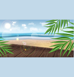 tropic seaside template realistic vector image