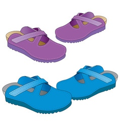two pair slippers vector image