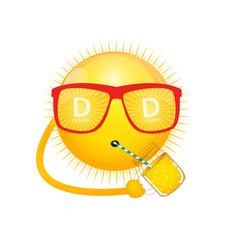 Vitamin d sun sign icon vector
