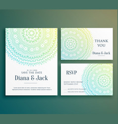 Wedding invitation greeting card design with vector