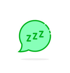 zzz logo like green cartoon speech bubble vector image