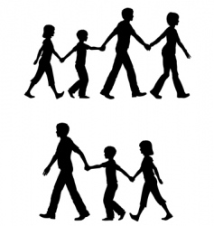 casual family vector image vector image