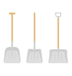 snow shovels isolated vector image vector image