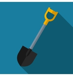 color flat shovel icon vector image