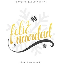 Merry Christmas card with greetings in spanish vector image vector image
