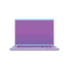modern purple ultraviolet laptop isolated on vector image