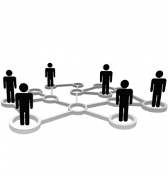 connected people vector image vector image