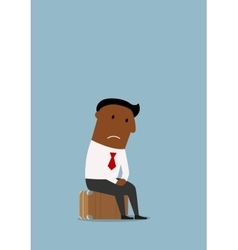 Frustrated businessman lost his job vector image