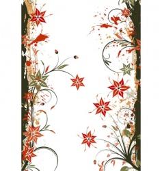 grunge flower frame vector image vector image
