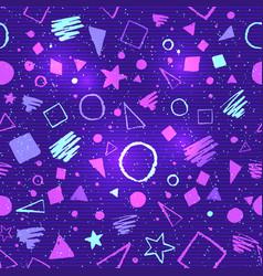 seamless ultraviolet geometric pattern vector image vector image