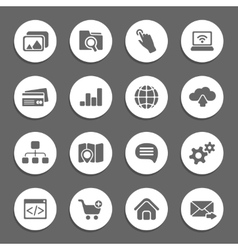 silhouette web icons vector image