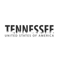 tennessee usa united states of america text or vector image vector image