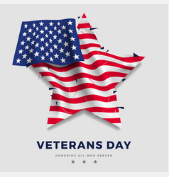 veterans day poster realistic flag of america vector image