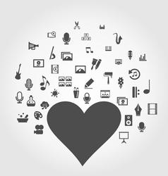 Art heart2 vector image vector image