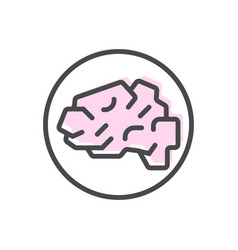 artificial intelligence icon with brain symbol vector image