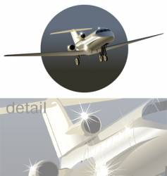 business-jet vector image vector image