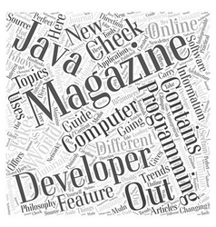 computer programming magazines Word Cloud Concept vector image vector image