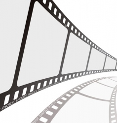 film reel angle vector image vector image