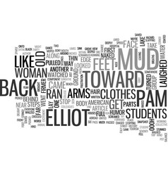 A young american abroad text word cloud concept vector