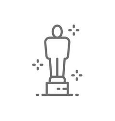 academy award oscar prize trophy line icon vector image