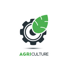 Agriculture logo template icon design a leaf and vector