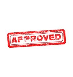 Approved vintage rubber stamp vector