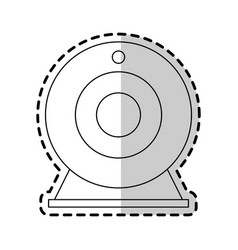 attachable webcam icon image vector image