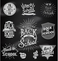 Back to School calligraphic designs vector image