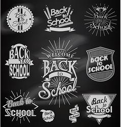Back to School calligraphic designs vector
