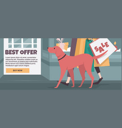 banner template for christmas discounts vector image