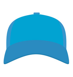 baseball cap in front icon flat style vector image