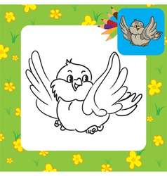 bird coloring page vector image