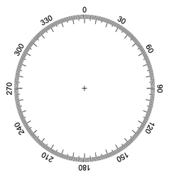 Blank protractor Actual Size Graduation isolated vector