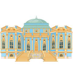 Blue rococo palace vector