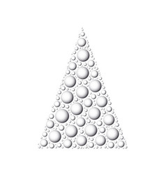 christmas tree of white 3d snowballs vector image