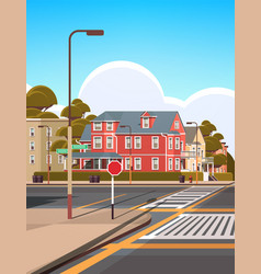 city facade buildings empty no people urban street vector image