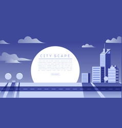 cityscape flat vector image