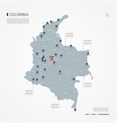Colombia infographic map vector