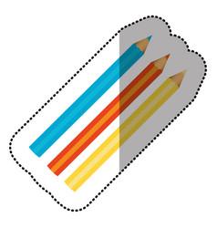 Colors pencils icon stock vector