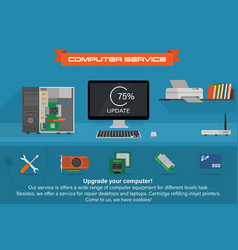 Computer service banner vector image
