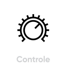 Control sound music icon editable line vector