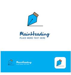 creative writing logo design flat color logo vector image