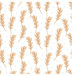 Cute feather pattern texture neutral beige vector