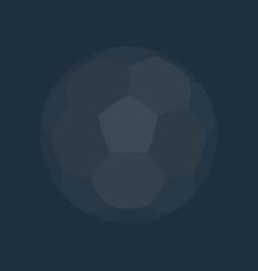 dark soccer ball background flat design vector image