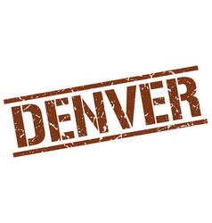Denver brown square stamp vector