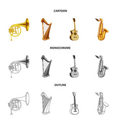 design music and tune symbol collection vector image