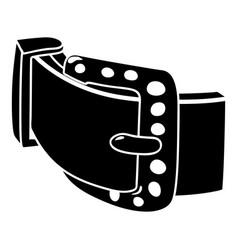 diamond belt icon simple style vector image