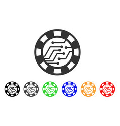 digital casino chip icon vector image