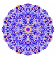 Digital Mosaic Circle Creative Colorful style vector image