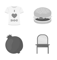 Fast food industry textiles and other web icon vector